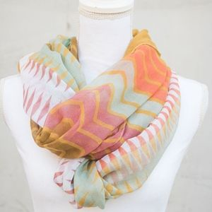 Accessories - Multi-Colored Chevron Infinity Scarf